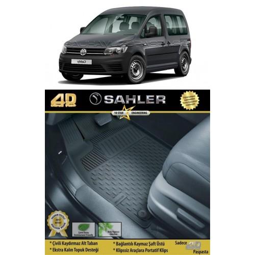 Volkswagen CADDY COMBİ KOLTUKLU VAN (2010-2015) 4.5D Havuzlu Paspas Siyah