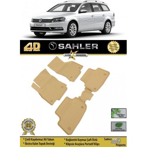 Volkswagen PASSAT B7 VARIANT (2011-2015) Sahler 4.5D Havuzlu Paspas Bej