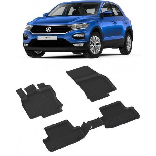 Volkswagen T-ROC 2019-2020 Sahler 4.5D Havuzlu Paspas Siyah