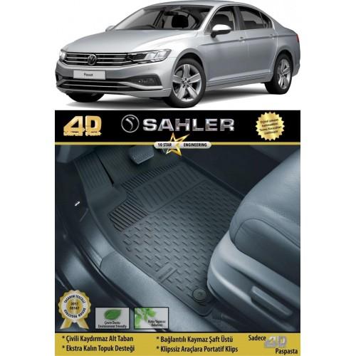 Volkswagen PASSAT B8.5 SEDAN (2019+) Sahler 4.5D Havuzlu Paspas Siyah