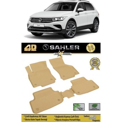 Volkswagen Yeni TIGUAN Makyajlı Kasa 2020-2021 Sahler 4.5D Havuzlu Paspas Bej