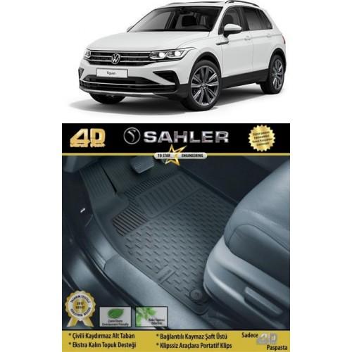 Volkswagen Yeni TIGUAN Makyajlı Kasa 2020-2021 Sahler 4.5D Havuzlu Paspas Siyah